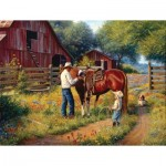 Sunsout-53084 Pièces XXL - Mark Keathley - Learning the Ropes