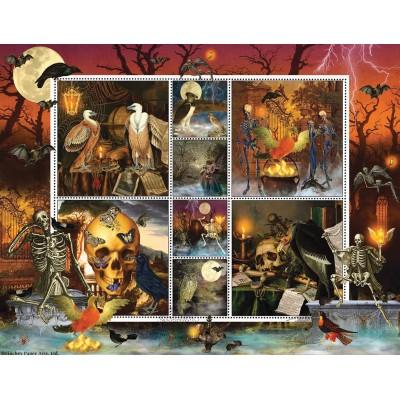 Sunsout-55924 Halloween Stamps: Skeleton Dance