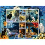 Sunsout-55926 Finchley Paper Arts - Halloween Stamps Spooky