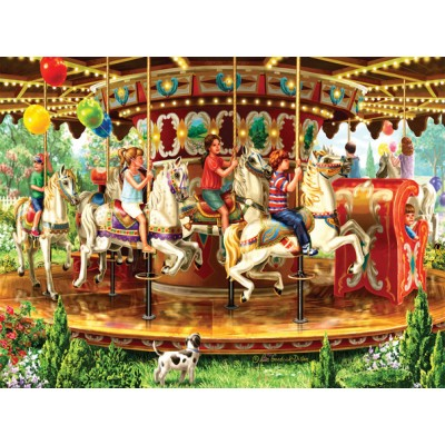 Sunsout-59798 Liz Goodrick-Dillon - Carousel Ride