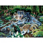 Sunsout-60506 Jan Martin Mcguire - Forest Wolf Family