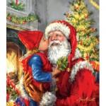 Sunsout-60662 Pièces XXL - Kissing Santa