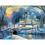 Sunsout-60765 Pièces XXL - A White Christmas