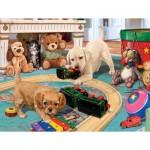 Sunsout-60905 Pièces XXL - Steve Read - Puppies Playtime