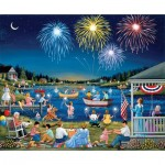 Sunsout-61342 Sheila Lee - Lakeside on the Fourth of July