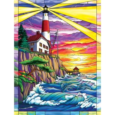 Sunsout-62914 Pièces XXL - Dolphin Bay Lighthouse