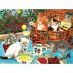 Sunsout-67246 Julie Bauknecht - Picnic Kittens