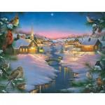 Sunsout-69609 Pièces XXL - Abraham Hunter - A Winter's Silent NIght