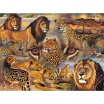 Sunsout-70934 Janet Stever - Big Cats of the Plains