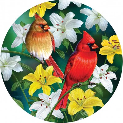 Sunsout-70965 Pièces XXL - Cardinals in the Round