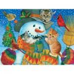 Sunsout-71984 Pièces XXL - Snowman Cuddles