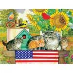Sunsout-71988 Pièces XXL - Patriotic Kittens