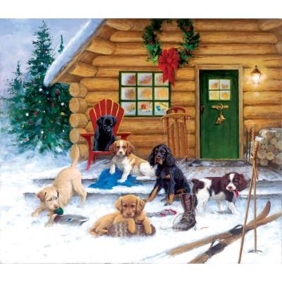 Sunsout-73410 Jim Killen - Christmas at the Cabin