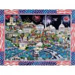 Sunsout-74058 Sharie Hatchett Bohlmann - Fireworks over Washington DC