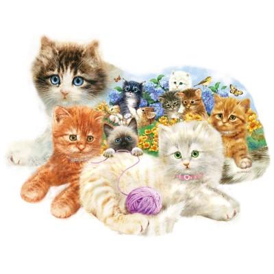 Sunsout-95958 Giordano Studios - A Litter of Kittens