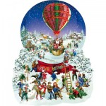 Sunsout-96087 Pièces XXL - Barbara Behr - Old Fashioned Snow Globe