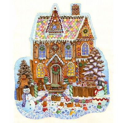 Sunsout-97179 Wendy Edelson - Gingerbread House