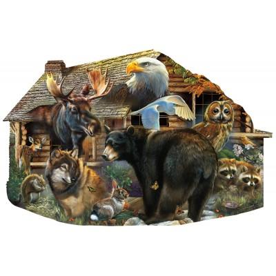 Sunsout-97186 Wildlife Cabin