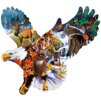 Sunsout-97278 Jerry Gadamus - Forest Eagle