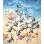 Sunsout-SV45501 Sherry Vintson - Green Turtle Hatchlings
