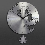T-Best-01 Horloge Métallique Murale Puzzle