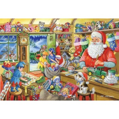 puzzle christmas collectors edition no 5 santa 39 s workshop the house of puzzles 2162 500 pi ces. Black Bedroom Furniture Sets. Home Design Ideas
