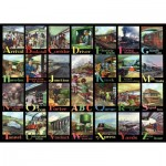 The-House-of-Puzzles-3718 Pièces XXL - A to Z of Rail