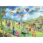 The-House-of-Puzzles-4807 Pièces XXL - Darley Collection - Let's Go Fly a Kite
