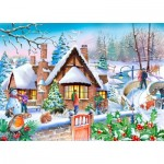 The-House-of-Puzzles-4814 Pièces XXL - Darley Collection - Snowy Cottage