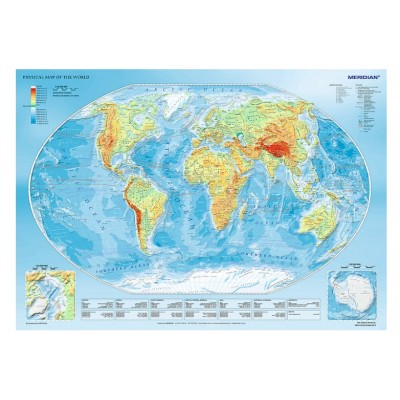 Trefl-10463 Physical Map of the World