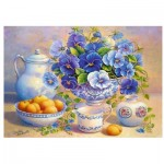 Trefl-10466 Blue Bouquet