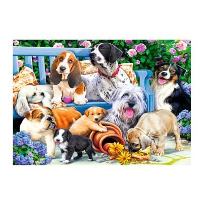 Trefl-10556 Dogs in the Garden
