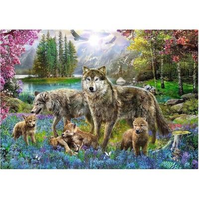 Trefl-10558 Famille de Loups