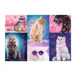 Trefl-10581 Neon Color Line - Chats