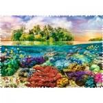 Trefl-11113 Crazy Shapes - Tropical Island