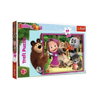 Trefl-14301 Pièces XXL - Masha & the Bear