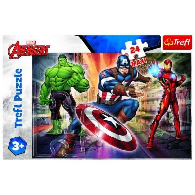Trefl-14321 Pièces XXL - Disney Marvel The Avengers