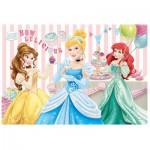 Trefl-14802 Pièces XXL avec Paillettes - Princesses Disney