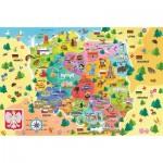 Trefl-15556 Carte de Pologne (en Polonais)
