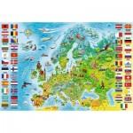 Trefl-15558 Carte d'Europe (en Polonais)
