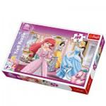 Trefl-16186 Les Princesses Disney se préparent