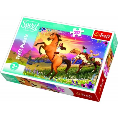 Trefl-18250 Dreamworks - Spirit Riding Free