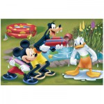 Trefl-19275 Mickey, Dingo et Donald s'arrosent