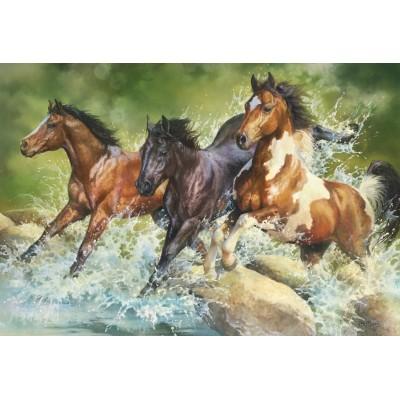 Trefl-26148 Three Wild Horses