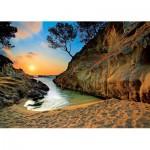 Trefl-27048 Espagne, Costa Brava : Coucher de soleil