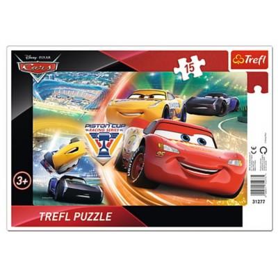 Trefl-31277 Puzzle Cadre - Cars