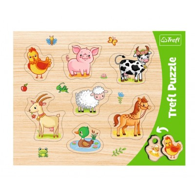 Trefl-31305 Puzzle Cadre - Animaux de la Ferme