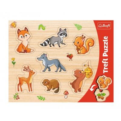 Trefl-31307 Puzzle Cadre - Animaux de la Forêt