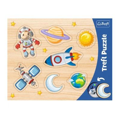 Trefl-31310 Puzzle Cadre - Conquête Spatiale