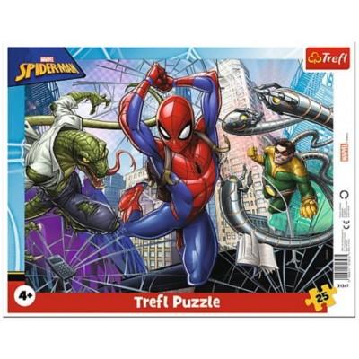 Trefl-31347 Puzzle Cadre - Spider-Man